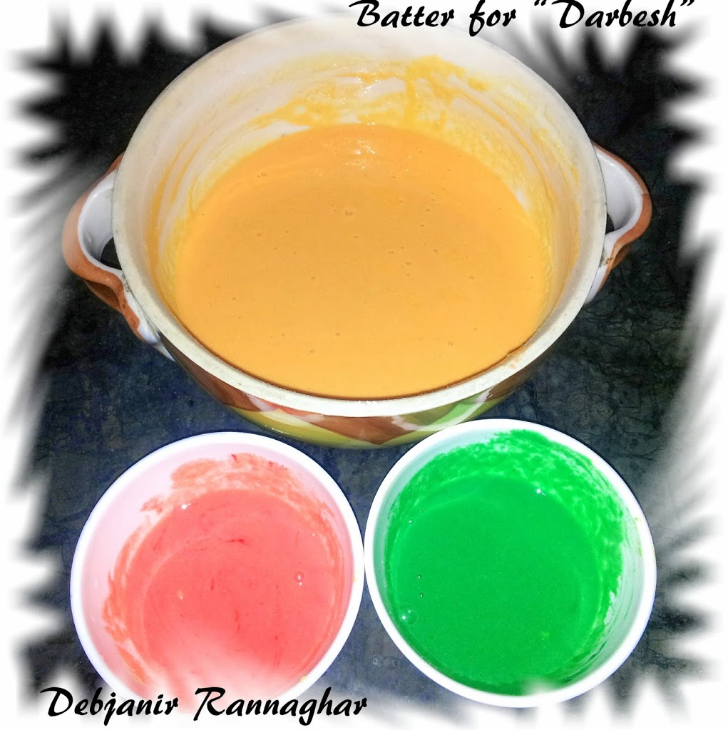 Colours added in Boondi batter