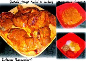 %Pahadi Murgh Kebab : Marination stage 1