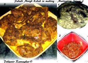 %Pahadi Murgh Kebab : Marination stage 2