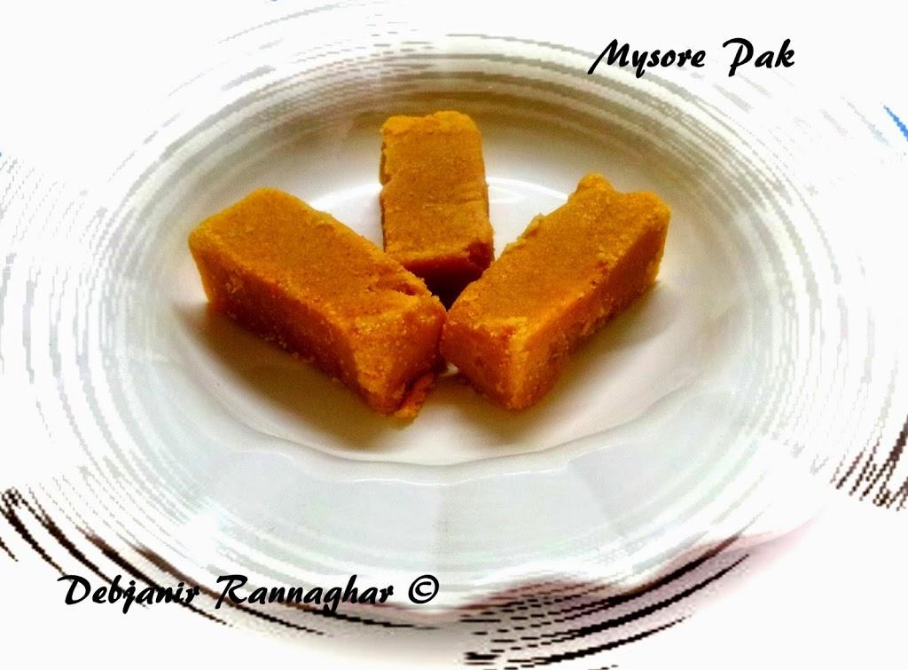 %Mysore Pak Recipe Indian Sweet