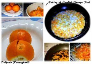 Step by step candied orange Peel