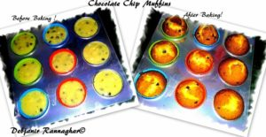 %Freshly baked Chocolate Chip Muffins Indian Recipe