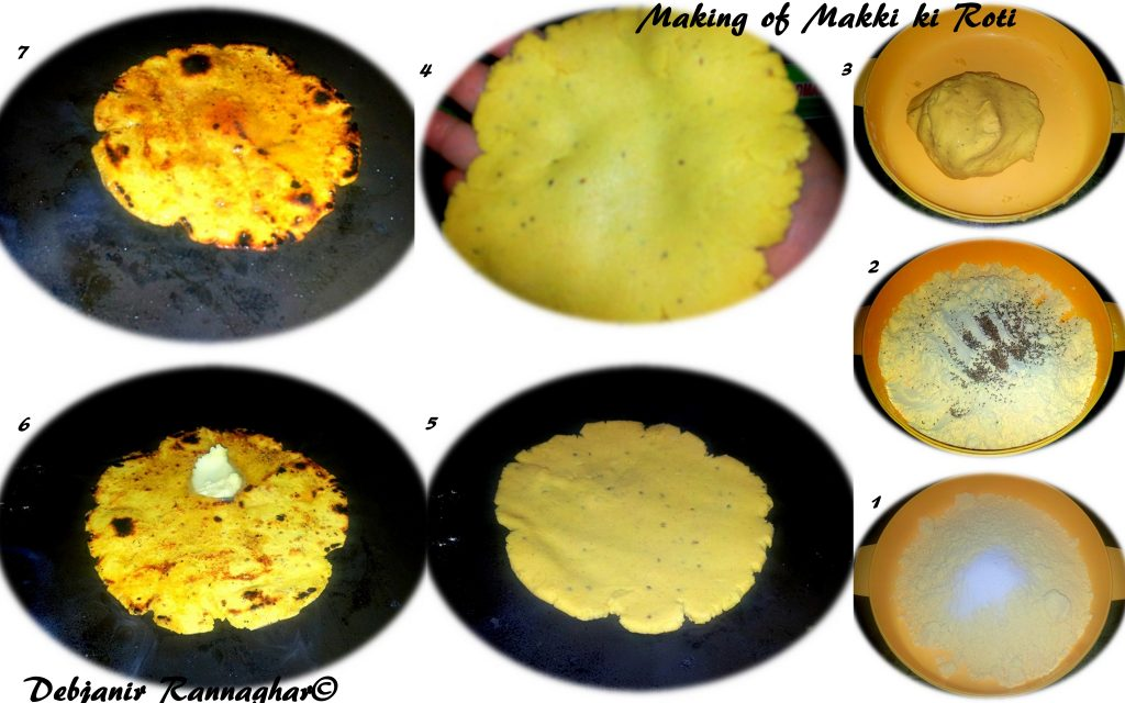 %Step by step Making of Makki ki Roti