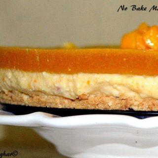 No Bake Mango Cheesecake Indian Recipe