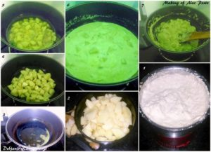 %Aloo Posto making step by step