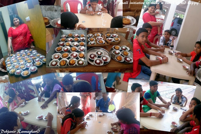 Cheese loaded Black Chickpeas and Soybean Kebabs with a crown of McCain Smiles and Whole Wheat Red Velvet Cupcake topped with Whipping Cream!: A dose of smile to a bunch of underprivileged children!