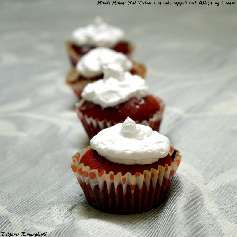 Whole Wheat Red Velvet Cupcake