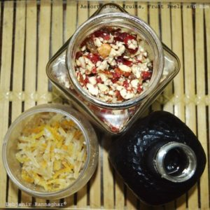 Assorted Dry Fruits,Candied Peels and Rum for Christmas Cake