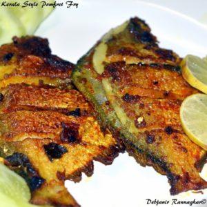%Kerala Style Pomfret Fry%Debjanir Rannaghar