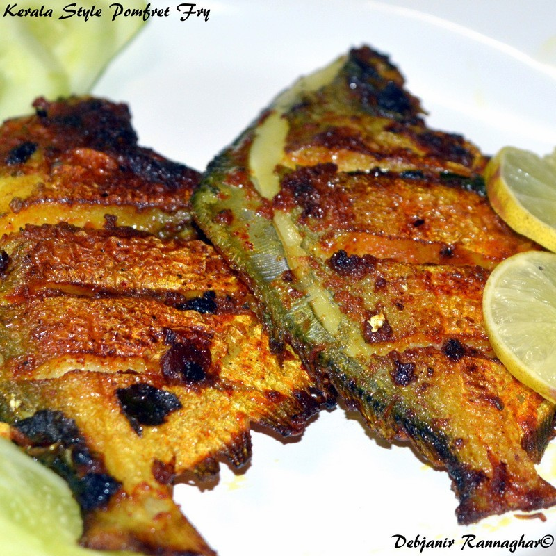 Kerala style Pomfret Fry | Kerala Fish Fry: recipe learned from Keralian Cook
