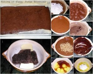 Making of Fudgy Fudge Brownies