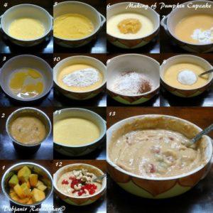 %Making Pumpkin Cupcake %Debjanir Rannaghar