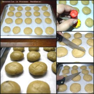 How to decorate Nankhatai