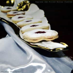 %Eggless Jam Filled Cookies Recipe