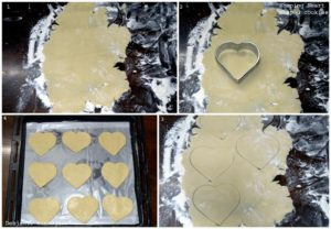 %Making of Eggless Jam Filled Butter Cookies shaping cookies