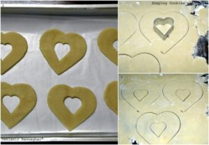 %Making of Eggless Jam Filled Butter Cookies shaping cookies part 1