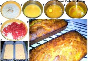 %Step by Step Carrot cake recipe