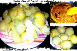 %Making of Bedmi aloo ki Sabzi step by step