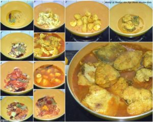 %step by step Making of Bhetki Maacher Aloo Phulkopi Diye Kalia