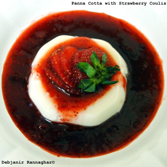 %Panna Cotta with Strawberry Coulis Recipe