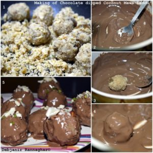 %how to make Chocolate dipped Coconut Mawa Laddu part 2