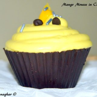 %Mango Mousse in Chocolate Cup Recipe