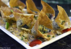 %Corn and Spinach Wanton at Kuaizi n Kadai