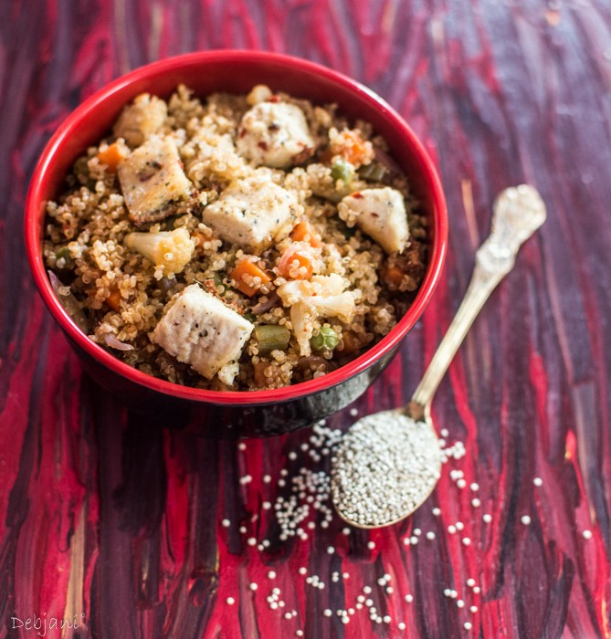%Quinoa Pulao with spice infused Paneer
