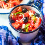 %Watermelon, Black Olive and Feta Cheese Salad