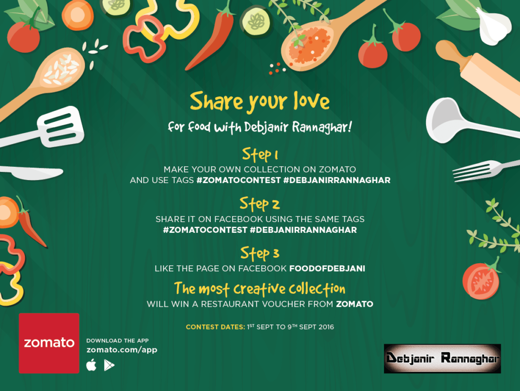 %Zomato contest with Debjanir Rannaghar