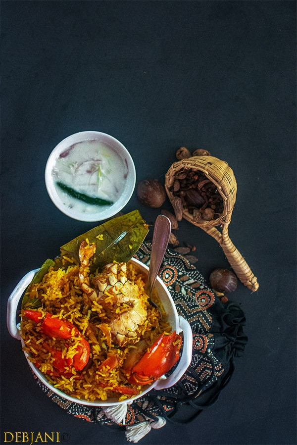 %Crab %Dum %Biryani %Debjanir %Rannaghar