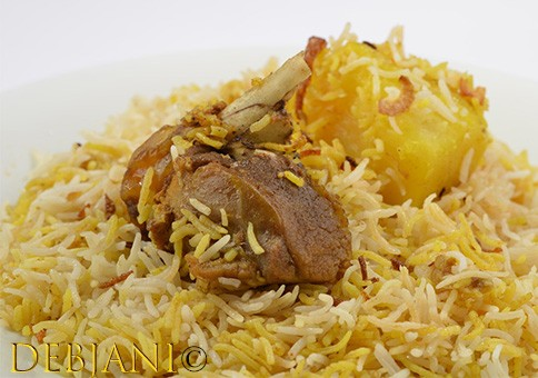 %Hanglaatherium Mutton Biryani with Aloo