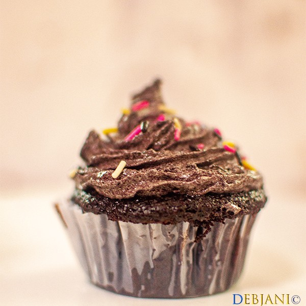 %Chocolate Cupcake with Chocolate Buttercream Frosting