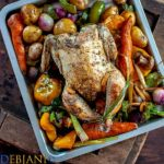 %Orange and Herb Roasted Chicken and Vegetables