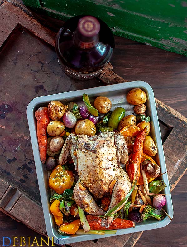 %Orange and Herb Roasted Chicken and Vegetables Debjanir Rannaghar