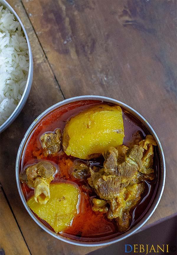 %Mangshor Jhol Recipe Debjanir Rannaghar