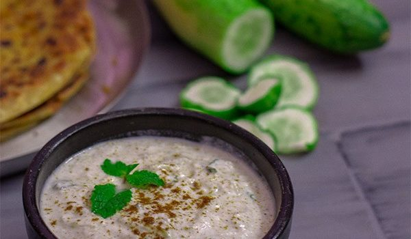 Cucumber Raita | Kheera Raita | Indian Yogurt and Cucumber Salad