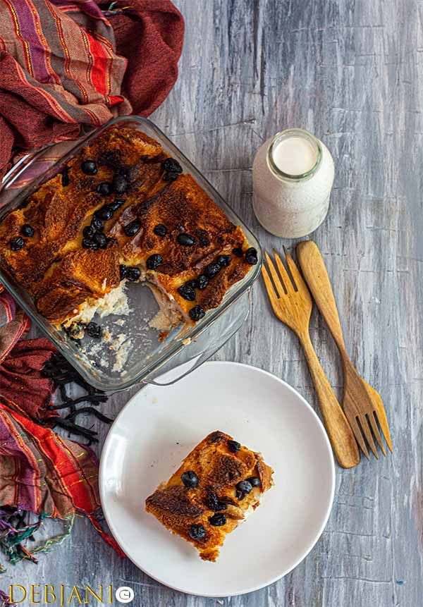 %Anglo-Indian Bread and butter Pudding