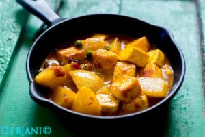 %Bengali Paneer er Dalna Recipe Debjanir rannaghar