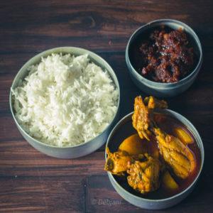 %Bengali Chicken Curry with Panch Phoron recipe Debjanir rannaghar