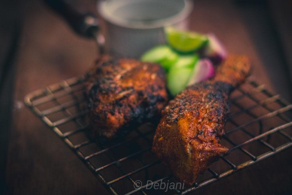 %Homemade Tandoori Chicken Recipe Debjanir Rannaghar