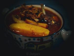 %Bengali Mutton Stew with veggies Recipe Debjanir Rannaghar