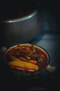 %Mutton Stew with veggies in a pressure cooker Recipe Debjanir Rannaghar