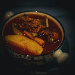 %shobji diye mangshor jhol recipe debjanir rannaghar Recipe Debjanir Rannaghar
