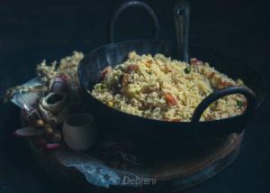 %Bhaja Bhat Recipe Debjanir Rannaghar