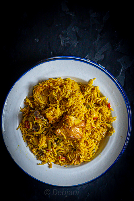 %Pressure Cooker Chicken Pulao recipe debjanir rannaghar Recipe Debjanir Rannaghar