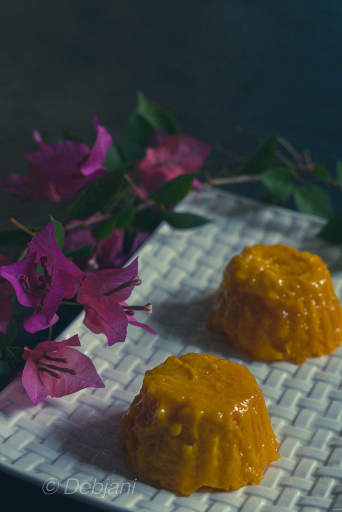 %no gelatin no ager ager mango pudding recipe debjanir rannaghar