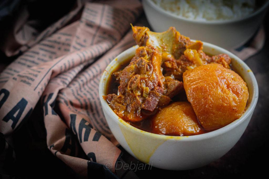%Authentic Aloo Gosht recipe debjanir rannaghar