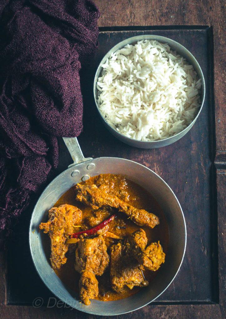 %Bengali Chicken Kosha recipe Debjanir Rannaghar