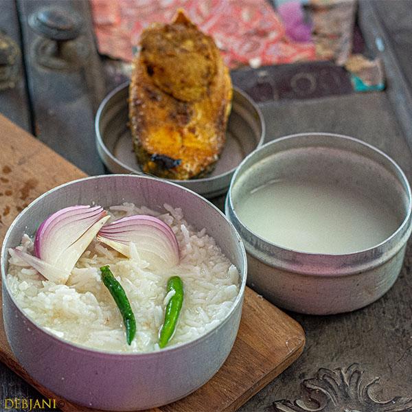%Bengali Panta Bhat Recipe Debjanir Rannaghar
